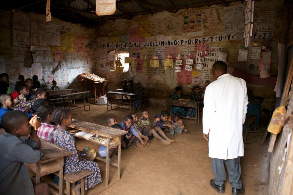 Ethiopian classroom
