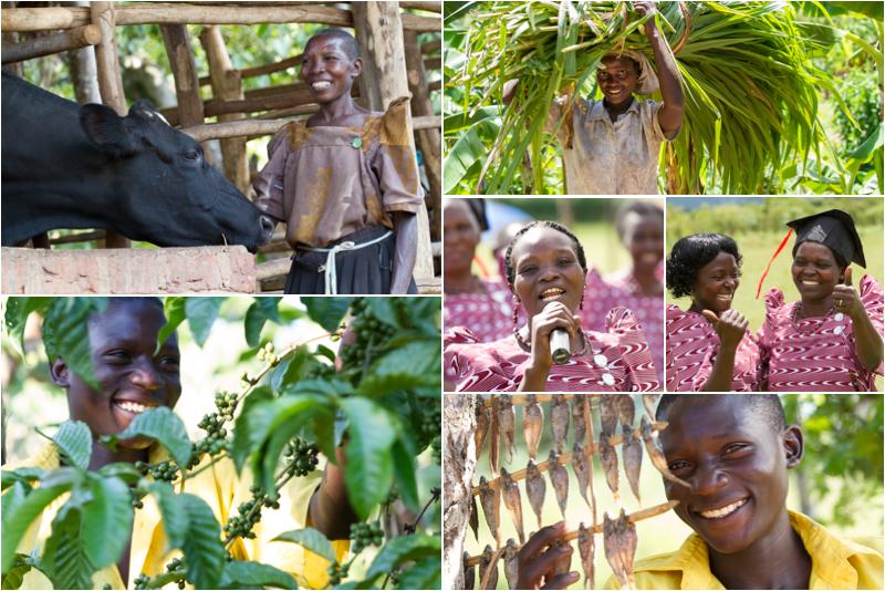 Send a Cow farmers in Uganda, Africa