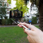 smartphone being used to make a film